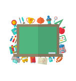 Flat Icons of Blackboard Royalty Free Stock Photo