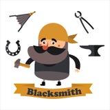 Flat  icons blacksmith Stock Images