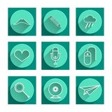 Flat icons for blog Stock Photography