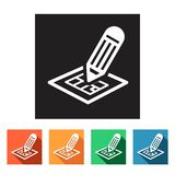 Flat icons (blueprint, design for a building),  Royalty Free Stock Photos