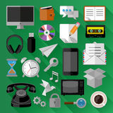 Flat icons bundle. Business concept Royalty Free Stock Photo