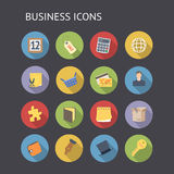 Flat icons for business and finance. Vector EPS-10 with transparency Royalty Free Stock Photography