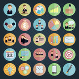 Flat icons Business Stock Photos