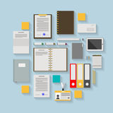 Flat icons for business workflow Stock Photography