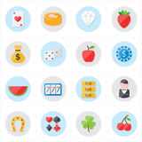Flat Icons For Casino Icons and Game Icons Vector Illustration Royalty Free Stock Photography