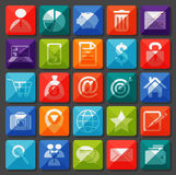 Flat icons collection. Business item Royalty Free Stock Photography