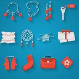 Flat icons collection for handmade items Royalty Free Stock Photography