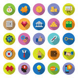 Flat icons collection with long shadow Royalty Free Stock Photography