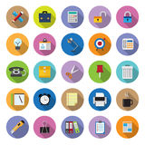 Flat icons collection with long shadow stock illustration