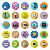 Flat Icons Collection With Long Shadow Royalty Free Stock Photo