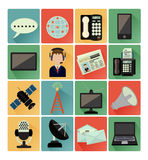 Flat icons communication set Stock Image