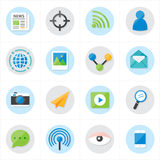 Flat Icons Communication and Web Icons Vector Illustration Stock Photo
