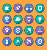 Flat  icons of creativity and imagination Royalty Free Stock Photography