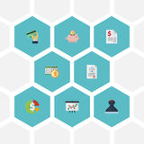 Flat Icons Deadline, Duty, Mark And Other Vector Elements. Set Of Recording Flat Icons Symbols Also Includes Card Royalty Free Stock Photo