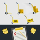 Flat icons for delivery of goods Royalty Free Stock Image