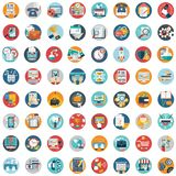 Flat icons design modern vector illustration big set of various financial service items, web and technology development, business