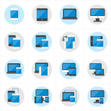 Flat Icons Device Icons and Responsive Web Design Icons Vector Illustration Royalty Free Stock Photos