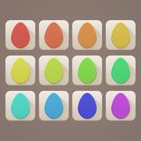 Flat Icons Easter Eggs Stock Image