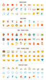 Flat Icons Royalty Free Stock Photos