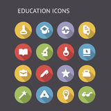 Flat Icons For education and science Royalty Free Stock Image