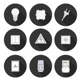 Flat icons electrician Royalty Free Stock Photo