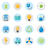 Flat Icons For Environment Icons and Ecology Icons Vector Illustration Stock Photos