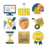 Flat icons for eshop Royalty Free Stock Photos