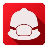 Flat icons of fireman helmet vector illustration Royalty Free Stock Photo