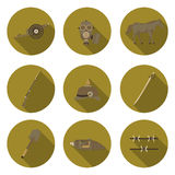 Flat icons the first world war Stock Image