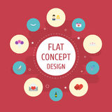 Flat Icons Fizz, Love, Jewelry And Other Vector Elements. Set Of Ceremony Flat Icons Symbols Also Includes Couple. Flat Icons Fizz, Love, Jewelry And Other Stock Images