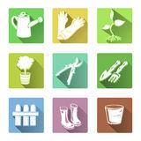 Flat icons garden tools Stock Images