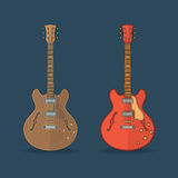 Flat icons of guitar Royalty Free Stock Photography