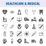 Flat icons for healthcare and medical. Flat icons for healtcare and medical. Design elements for mobile and web applications stock illustration