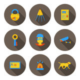 Flat icons home security Stock Photography