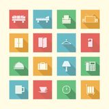 Flat icons for hotel Stock Image