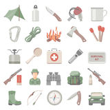 Flat Icons - Hunting and Bushcraft Royalty Free Stock Photography