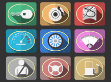 Flat icons Royalty Free Stock Image