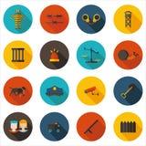 Flat icons imprisonment Stock Photos