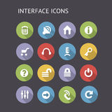 Flat Icons For Interface Stock Photos