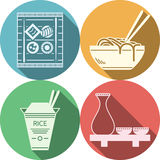 Flat icons for japanese food Royalty Free Stock Images