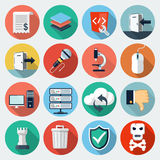 Flat Icons with long shadow, set 11 royalty free illustration
