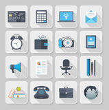 Flat icons with long shadow Royalty Free Stock Image
