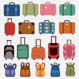Flat icons luggage. Royalty Free Stock Images