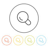 Flat icons (magnifying glass, search),  Stock Image