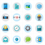 Flat Icons For Media Icons and Communication Icons Vector Illustration Stock Photos