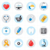 Flat Icons For Medical Icons and Health Icons Vector Illustration Royalty Free Stock Photos