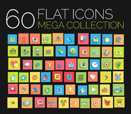 Flat icons mega collection Royalty Free Stock Photo