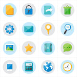 Flat Icons Mobile Icons and Internet Web Icons Vector Illustration Stock Images