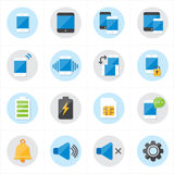 Flat Icons For Mobile Icons and Notification Icons Vector Illustration Stock Image