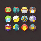 Flat Icons for mobile and web applications Set 2 Royalty Free Stock Image